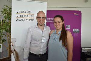 Neuer VLA-Präses Alexander Bagus mit der neuen Beisitzerin Katharina Sprott